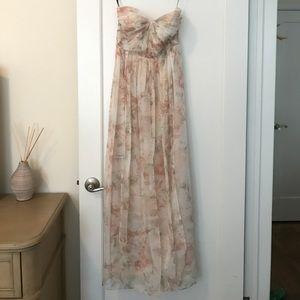 Jenny Yoo floral strapless dress